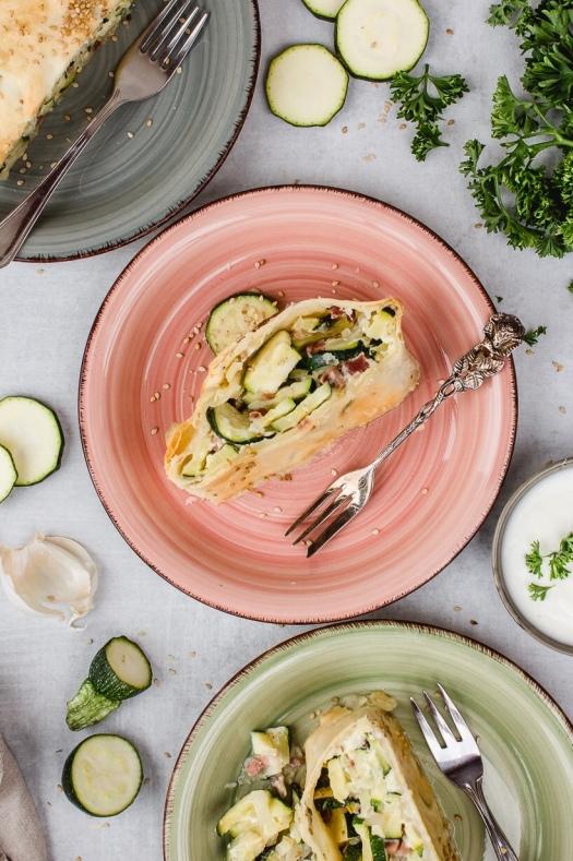 Zucchini Strudel chez simone Marie